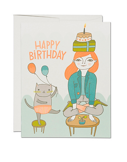 Yoga Birthday Card by Red Cap Cards