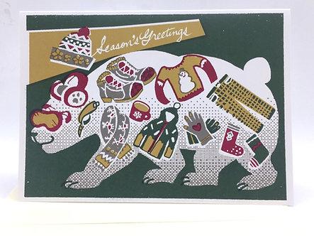 """""""Season's Greetings"""" Card by Harumo Bakery"""