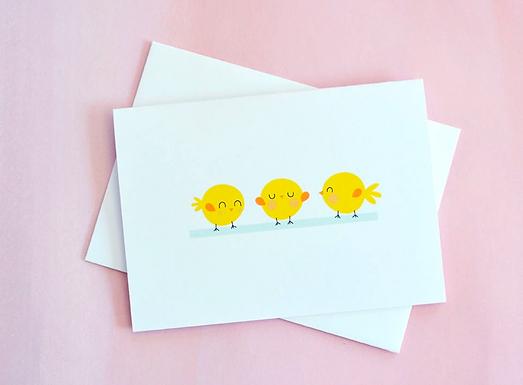 Spring Chicks Card by Pennie Post