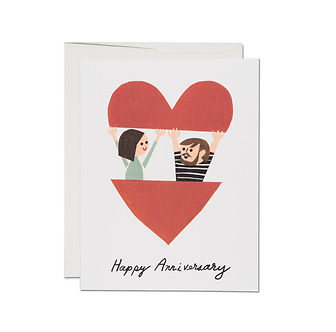 In the Heart Happy Anniversary Card by Red Cap Cards
