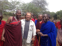 Jon at the Maasai Village
