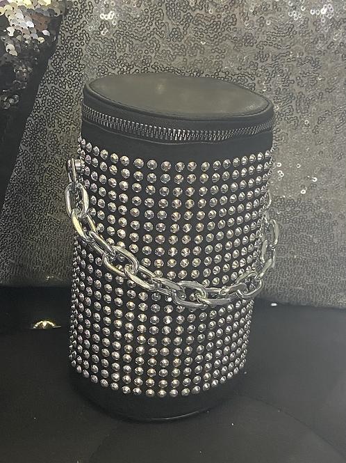 Bling cylinder bag