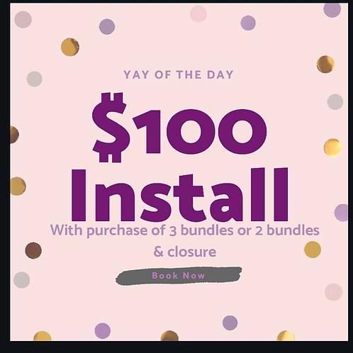 Purchase 3 bundles or 2 bundles and closure