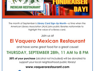 EL Vaquero Mexican Restaurant Hosting Dine-To-Donate Day For Local Public Libraries