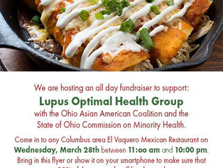 Dine-To-Donate For Lupus Optimal Health Group Wednesday, March 28th