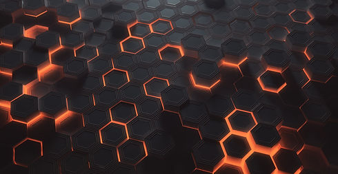 Futuristic%20glowing%20amber%20hexagonal