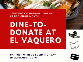 EL VAQUERO CELEBRATES LOCAL LIBRARIES!