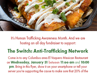 Anti-Human Trafficking Fundraiser Day At El Vaquero Mexican Restaurant