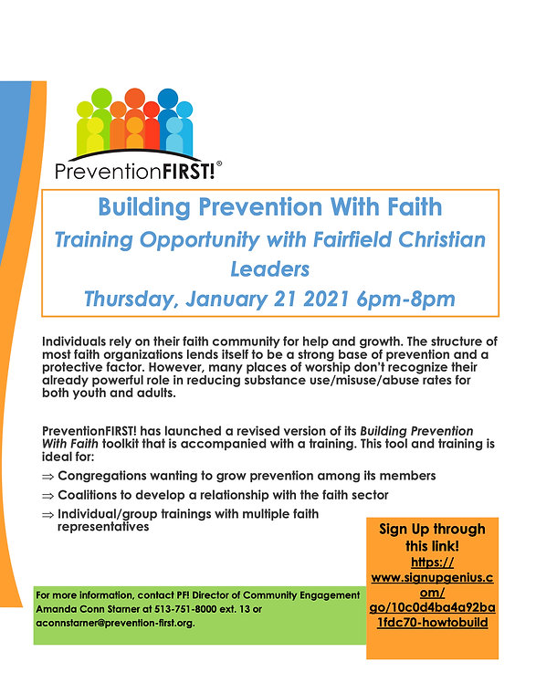 Building Prevention With Faith-flyer for