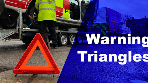 Why should your vehicle have a warning triangle?
