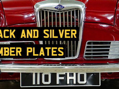 Black & Silver Number Plates: The Law, Suppliers & Advice