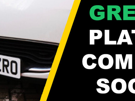 Green Number Plates - Coming soon!