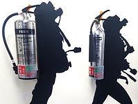 wall art - scuba fire extinguishers ligh