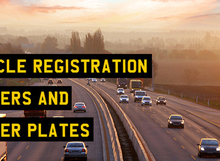 Vehicle registration numbers and number plates explained
