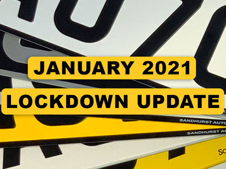 January 2021 Lockdown Update
