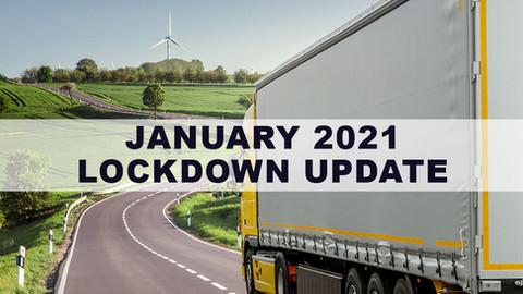 January 2021 Lockdown Update