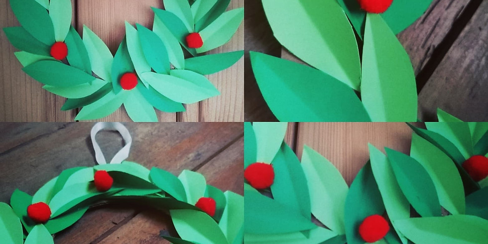Festive Paper Wreath Craft Packs