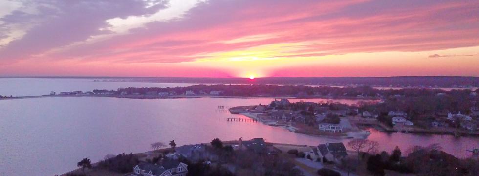 Sunset over Hampton Bays