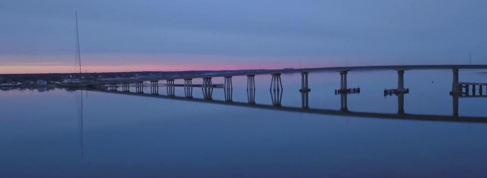 Ponquogue Bridge in the Evening Twilight