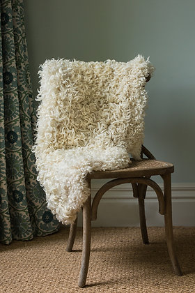 Whiteface Dartmoor Longwool Sheepskin Rug