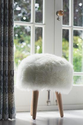 White Devon Closewool 3 Legged Stool