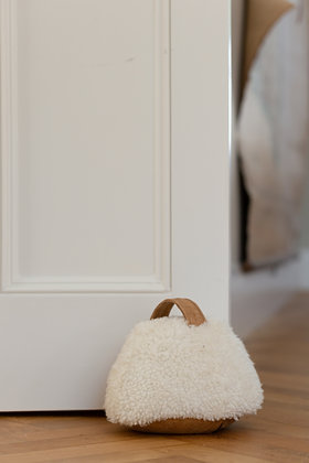 Cropped Sheepskin Doorstop