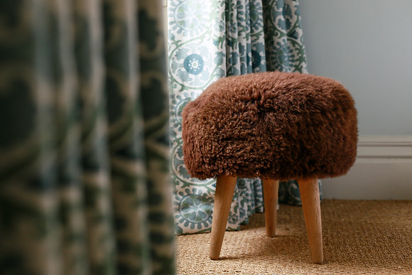 Chocolate Brown Three Legged Stool