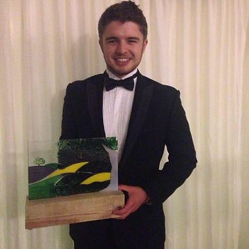 Lewis Steer with his Devon Farm Business Award