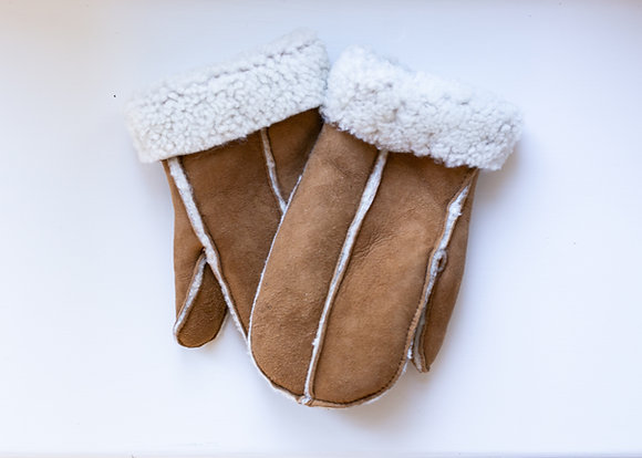 Sheepskin Mittens Tan