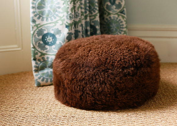 Chocolate Brown Closewool Footstool