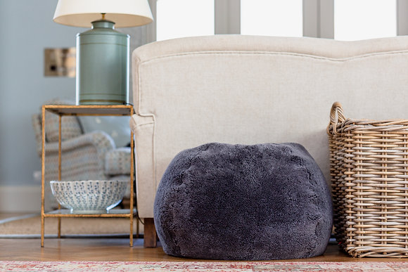 Cropped Granite Sheepskin Bean bag