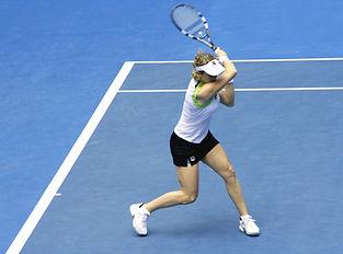 Mujer jugador de tenis