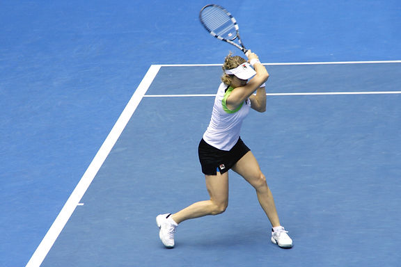 Jogador de ténis fêmea