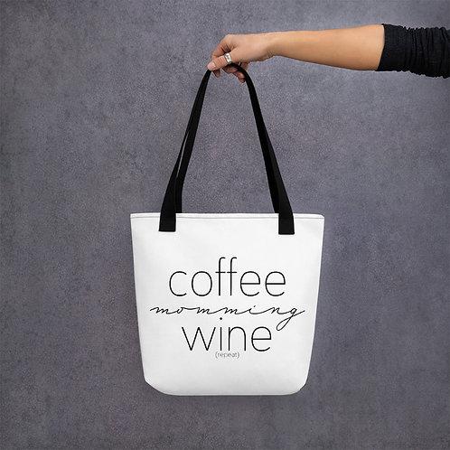 Coffee, Momming, Wine, Repeat Tote Bag
