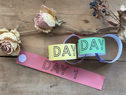 Days of School Paper Countdown Chain
