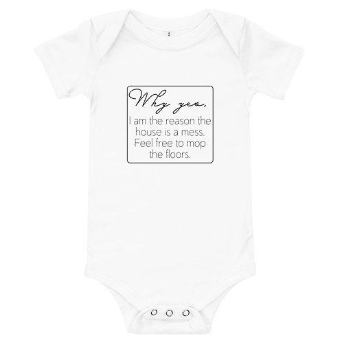 """Why Yes"" Baby Short Sleeve Onesie"