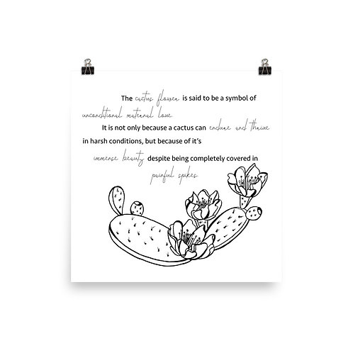 Cactus Flower Photo Paper Poster