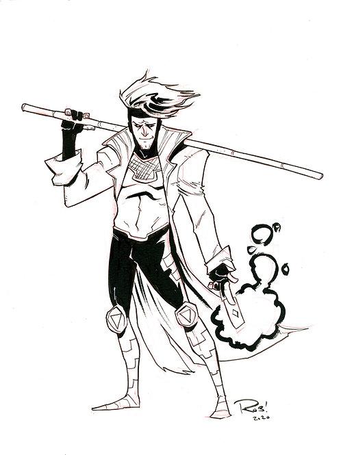 90s era Gambit Sketch