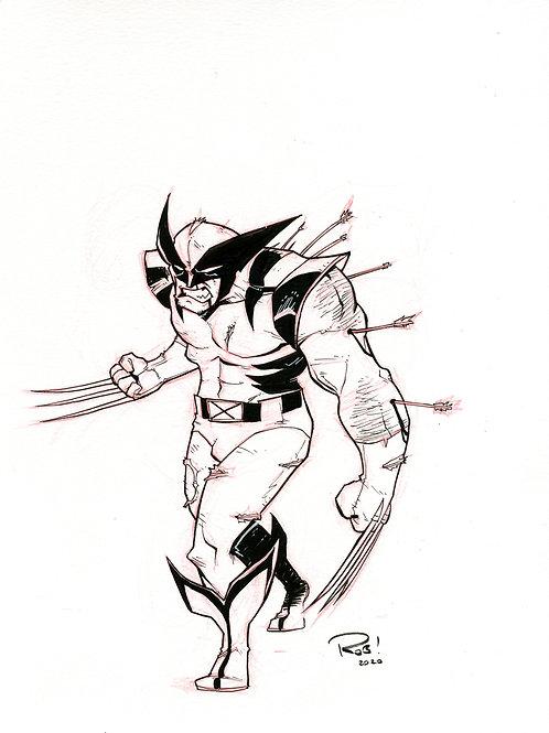 90s era Wolverine Sketch