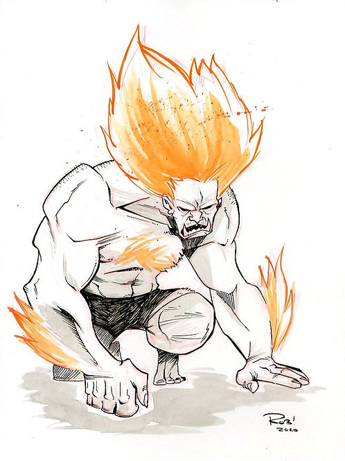Blanka Warm-up sketch