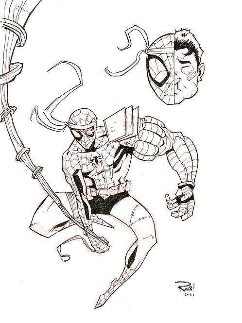 Cyber-Spidey Sketch