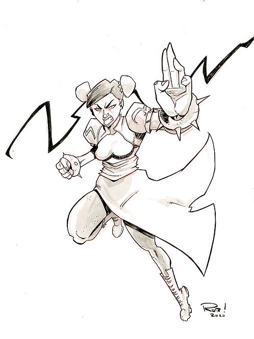Chun Li Warm-up sketch