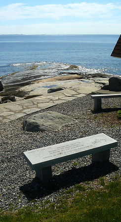 Stone Bench looking out on the ocean