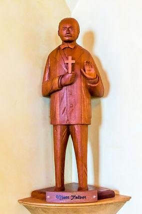 Wooden Statue of Matt Talbot, Enders Island Chapel