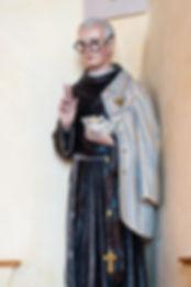 Statue of Saint Maximilian Kolbe, Enders Island Chapel