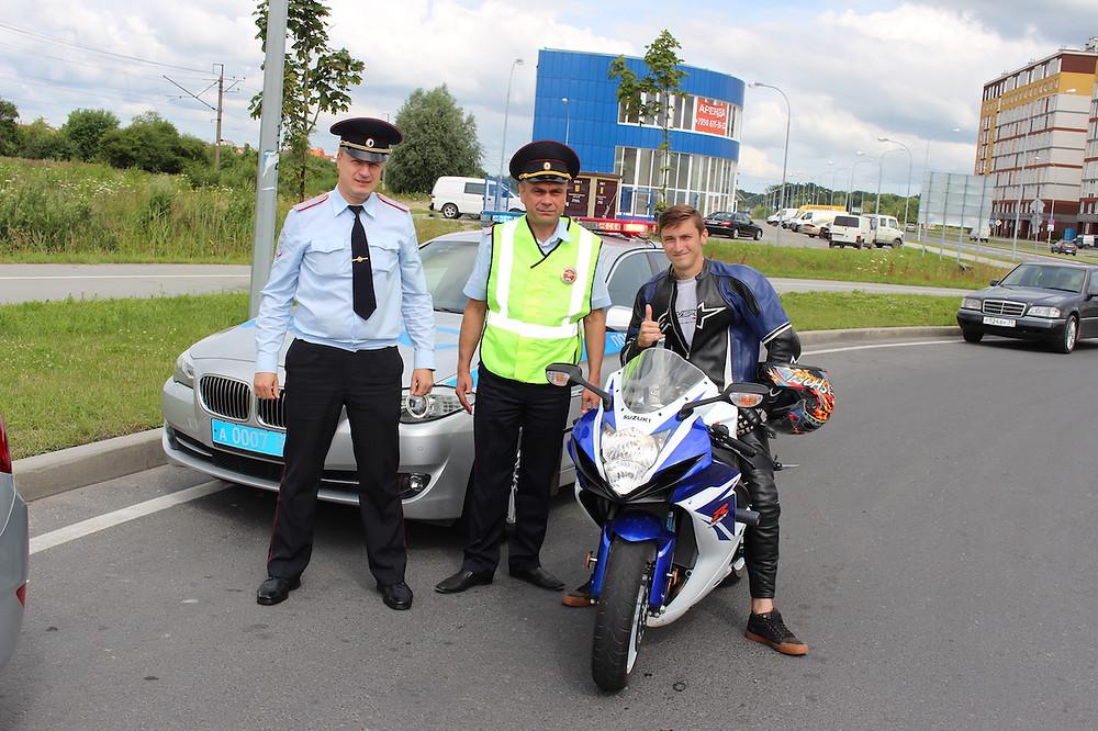 полиция и байкеры в Калининграде