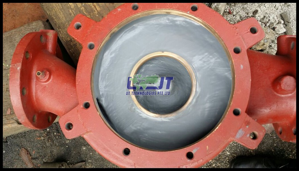 Sea water pump casing