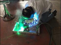 Aluminium gangway platform repair an
