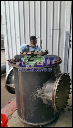 Main sea water pipe strainer