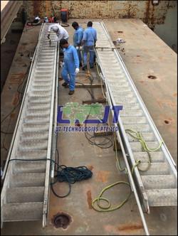 Gangway repairs onboard